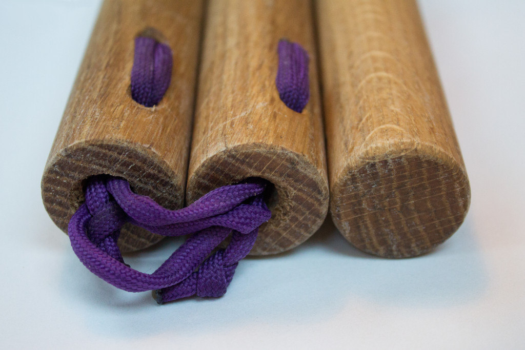 End Beech with purple paracord