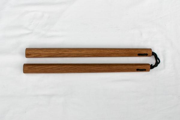 Handmade Oak Nunchaku by Seaholme Kobudo