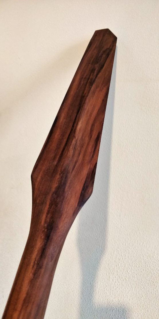 Handmade Eku for Okinawan Kobudo in Walnut and Tung Oil, by Seaholme Kobudo